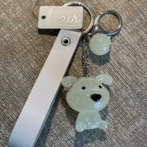 sleutelhanger wit hond