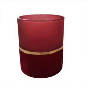 waxinelichthouder velvet glas rood
