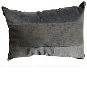 woonkussen blauw grijs velvet 60 40