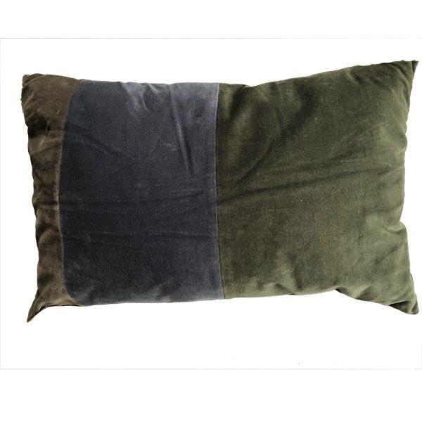 woonkussen groen blauw grijs
