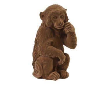 aap velvet bruin roestbruin decoratie accessoire dieren