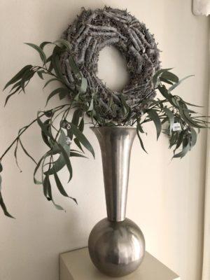 vaas decoratie ruw nikkel