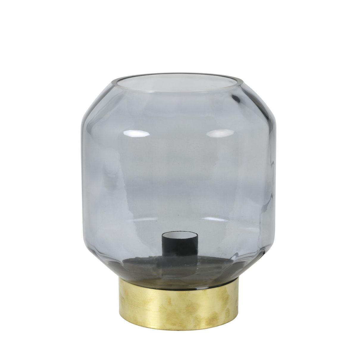 lamp, tafel, chroom, goud, glas, rookglas