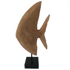 beeld vis hout aankleding