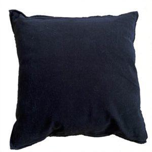 woonkussen zwart velours
