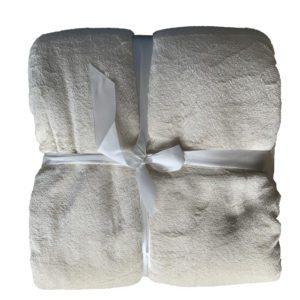 plaid bank of bed deken